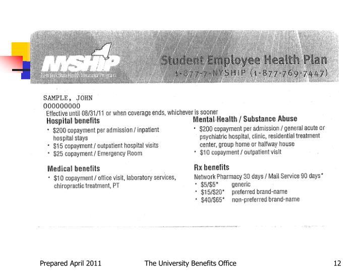 The University Benefits Office