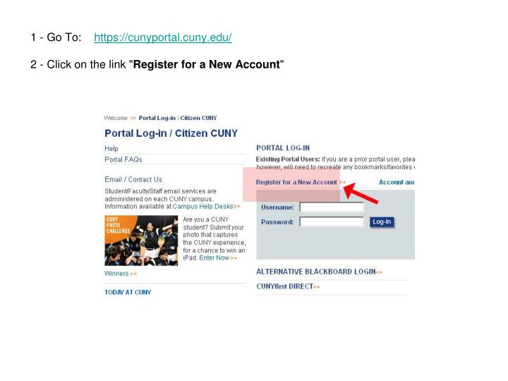 Ppt Ace Student How To Register In The Cuny Portal Powerpoint