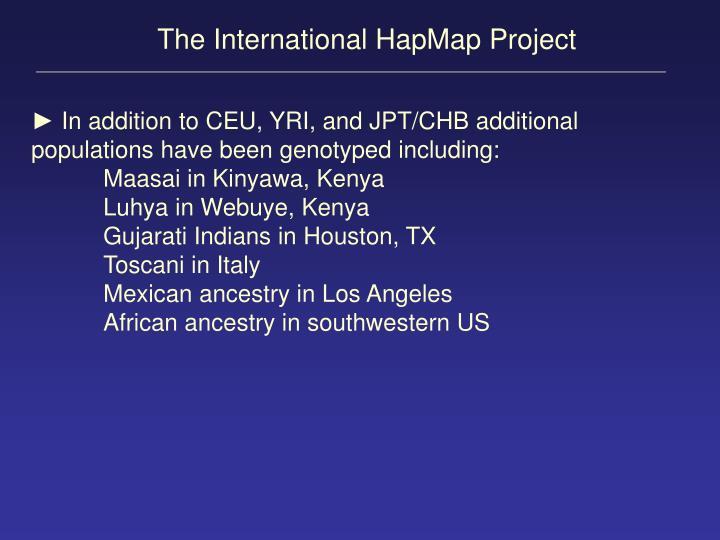 The International HapMap Project