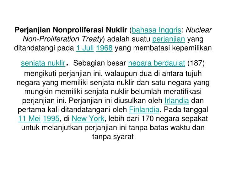 Perjanjian Nonproliferasi Nuklir