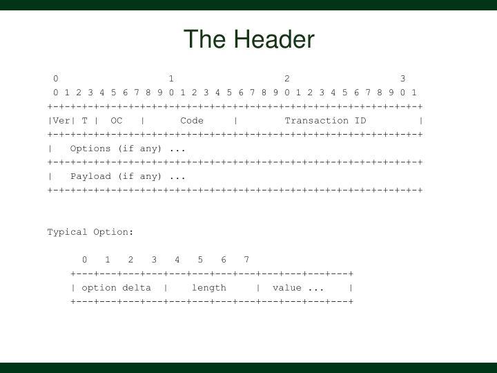 The Header