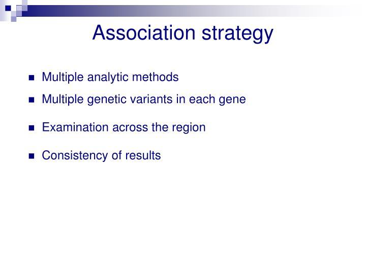 Association strategy