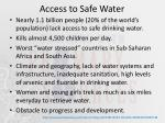 access to safe water