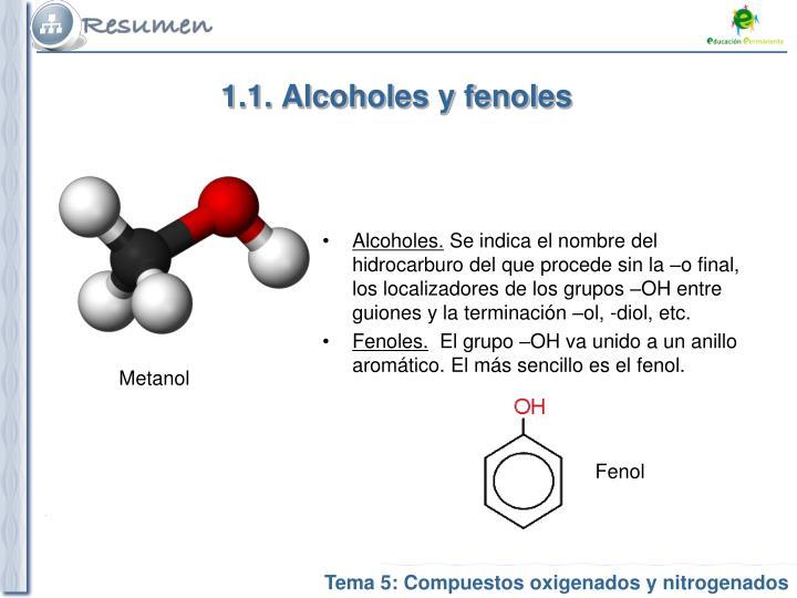 1 1 alcoholes y fenoles