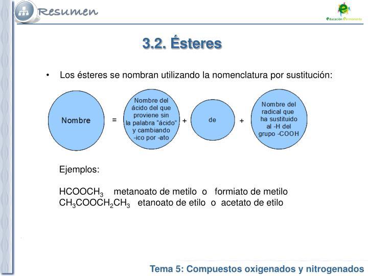 3.2. Ésteres