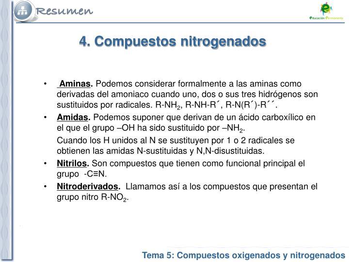 4. Compuestos nitrogenados