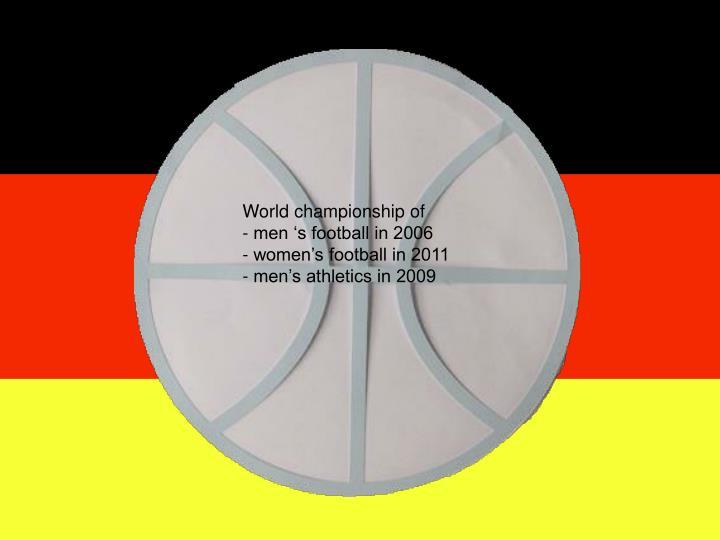 World championship of
