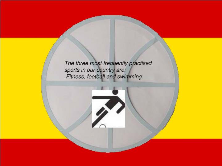 The three most frequently practised sports in our country are: