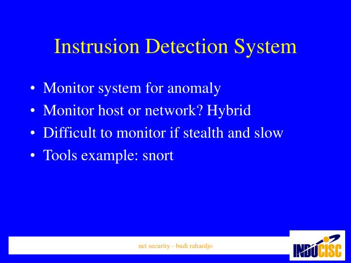 Instrusion Detection System