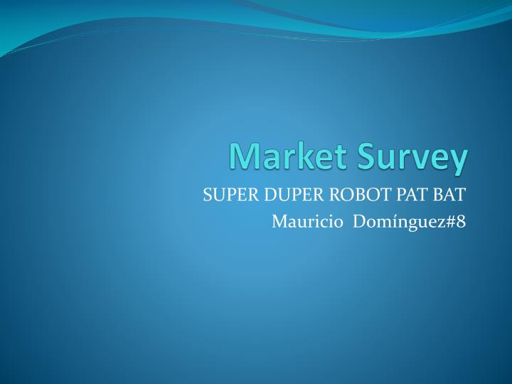ppt on market survey done by vip bags According the 2012 edma ivd market statistics report, the 2013 market was expected to continue a downward trend of -21% when actually was -06.