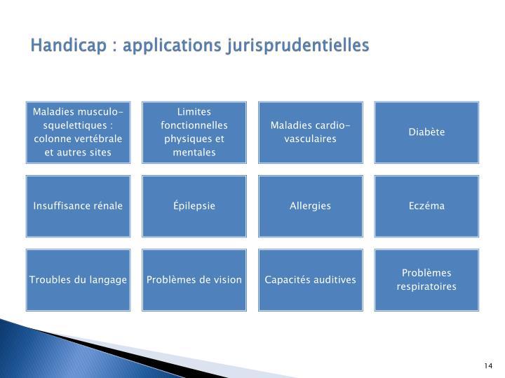 Handicap : applications jurisprudentielles