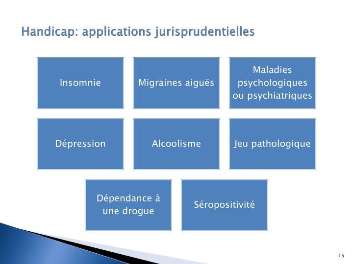 Handicap: applications jurisprudentielles