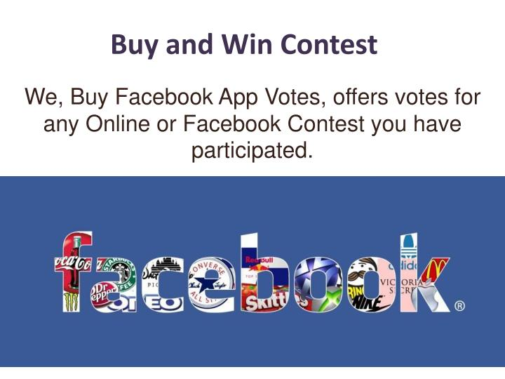 buy and win contest n.