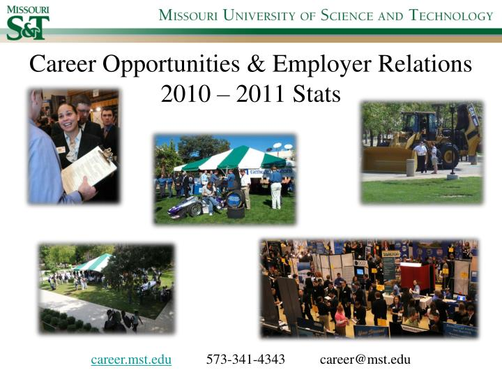 career opportunities employer relations 2010 2011 stats