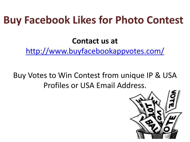 buy facebook likes for photo contest n.