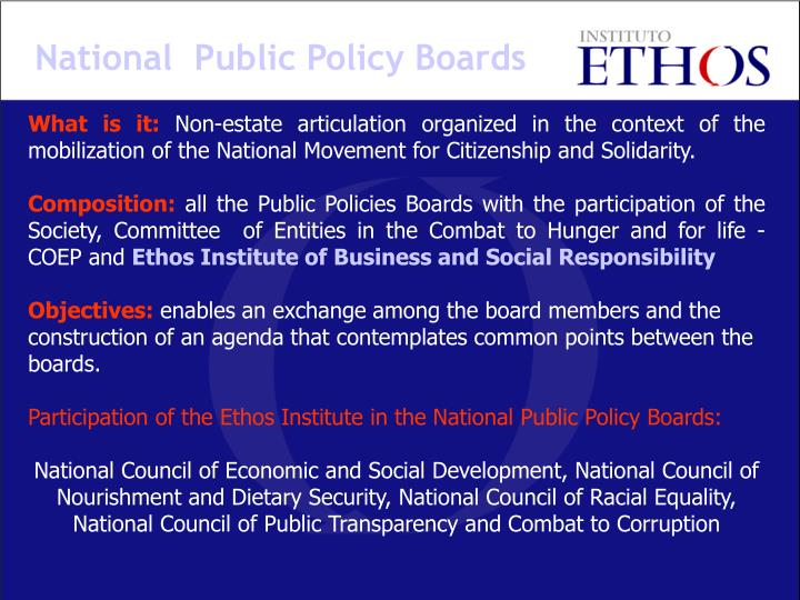 National  Public Policy Boards