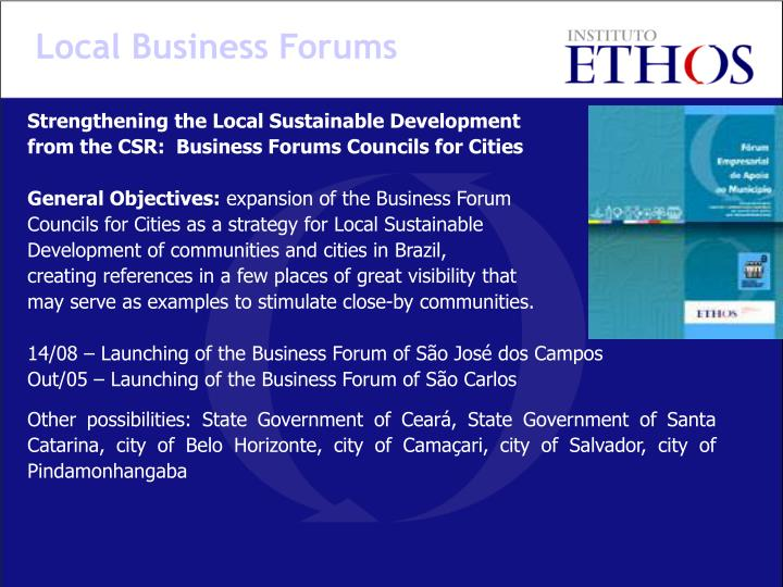 Local Business Forums