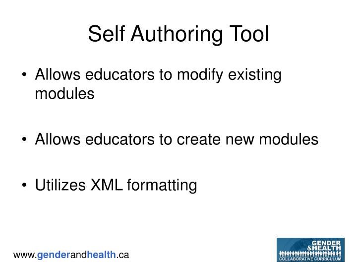 Self Authoring Tool