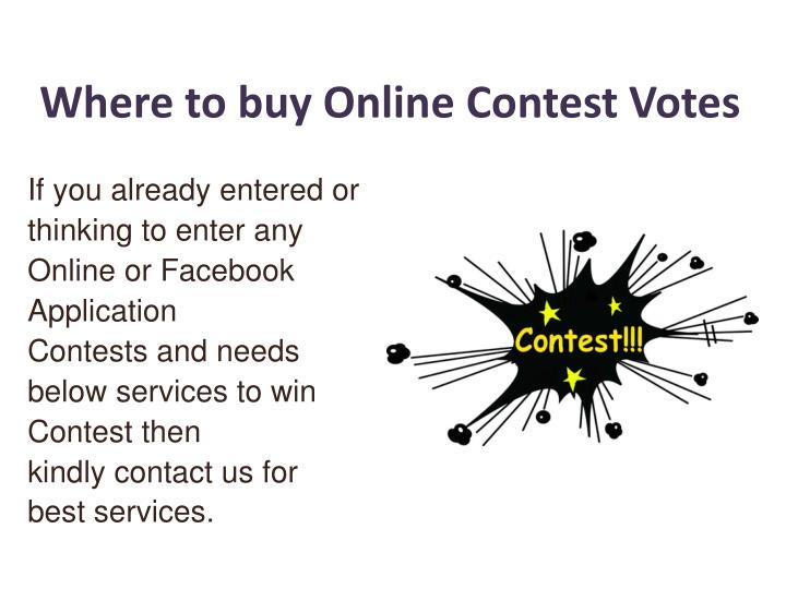 where to buy online contest votes n.