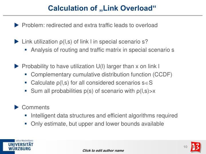 "Calculation of ""Link Overload"""