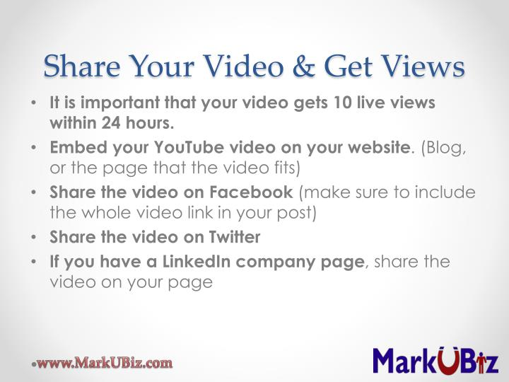 Share Your Video & Get Views