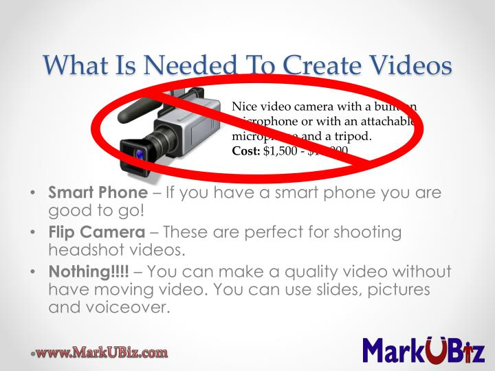 What Is Needed To Create Videos