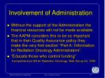 involvement of administration