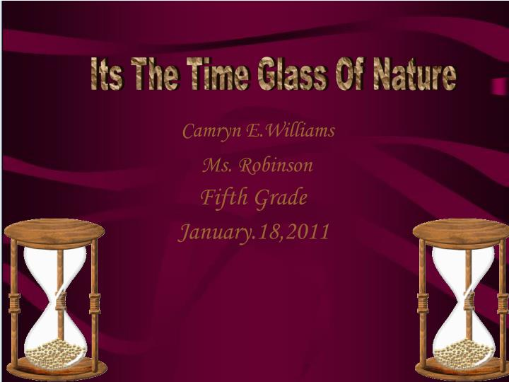 Its The Time Glass Of Nature