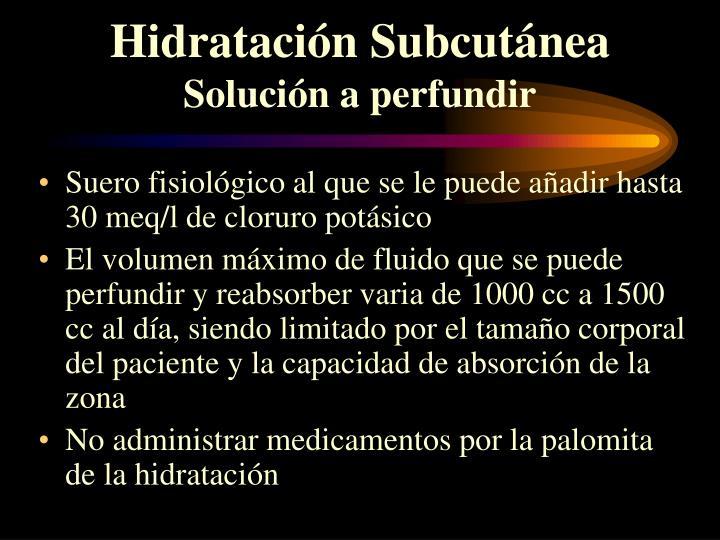 Hidratación Subcutánea