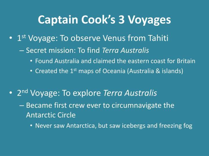 Captain cook s 3 voyages