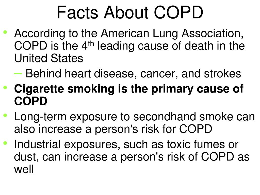 PPT - Chronic Obstructive Pulmonary Diseases (COPD