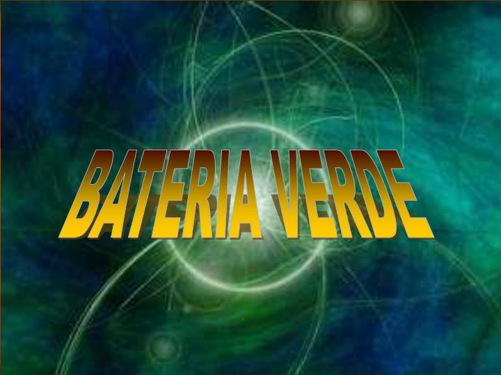 BATERIA VERDE