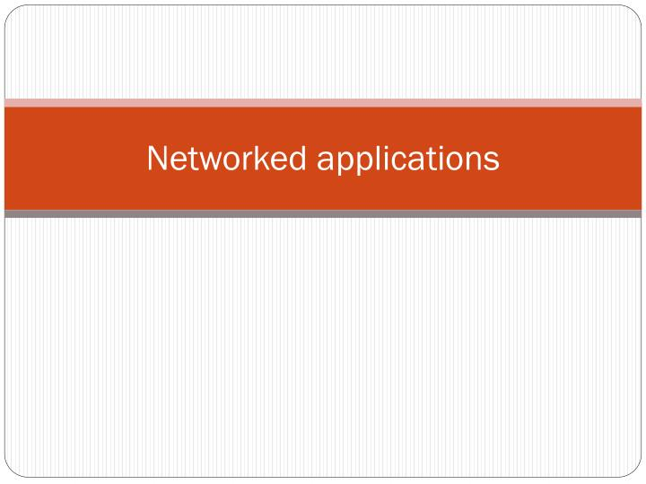 networked applications n.