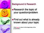 background research