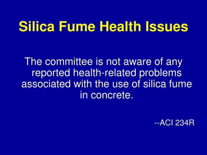 Silica Fume Health Issues