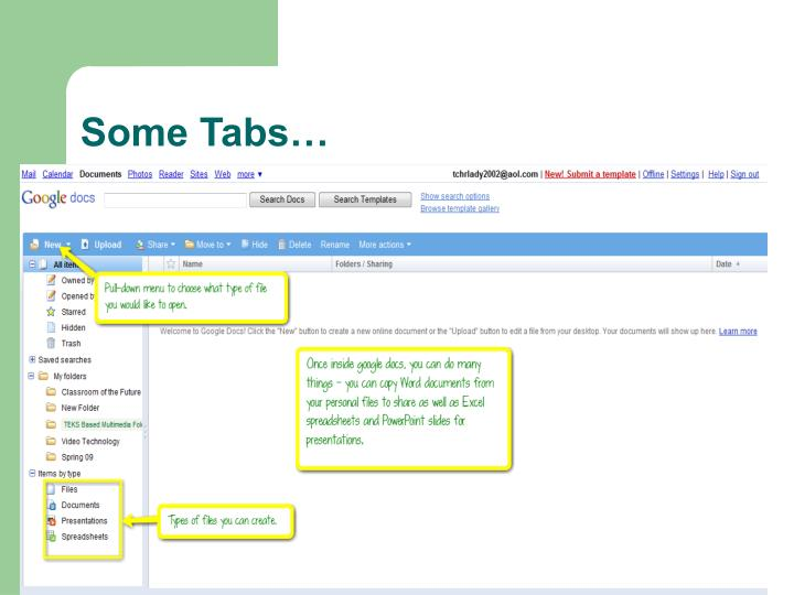 Some Tabs…
