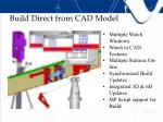 build direct from cad model