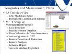 templates and measurement plans