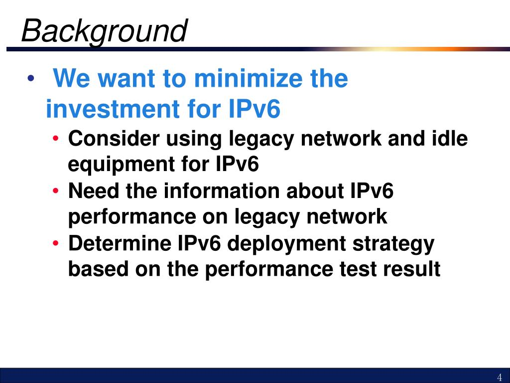 PPT - Network Performance Test on IPv6 PowerPoint