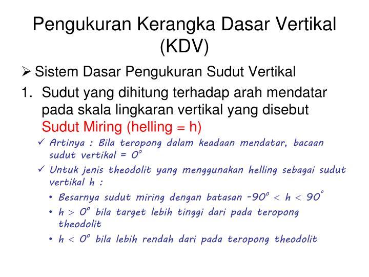Pengukuran kerangka dasar vertikal kdv1