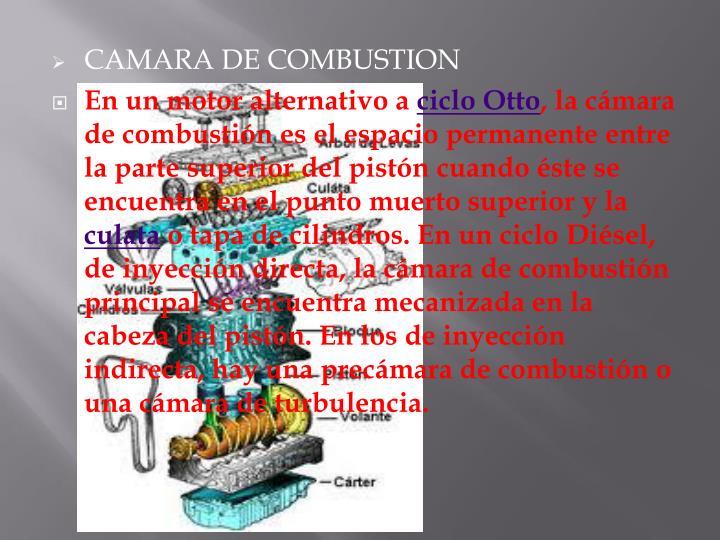 CAMARA DE COMBUSTION