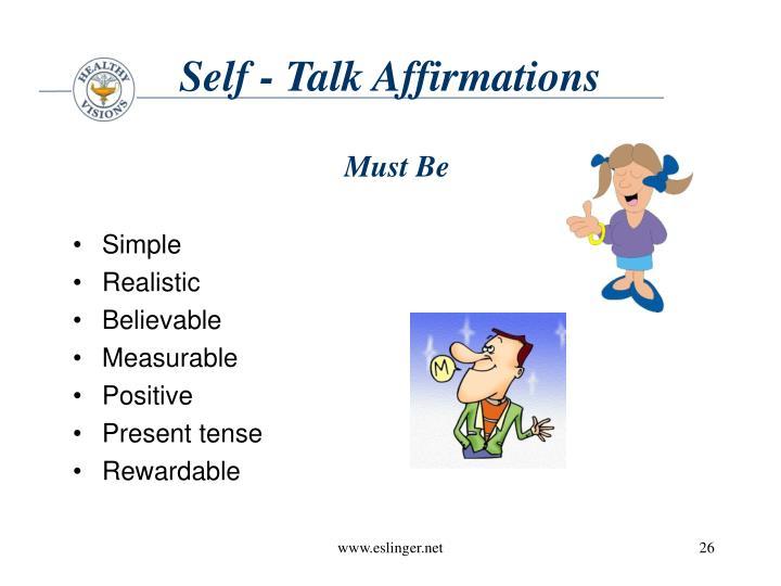 Self - Talk Affirmations