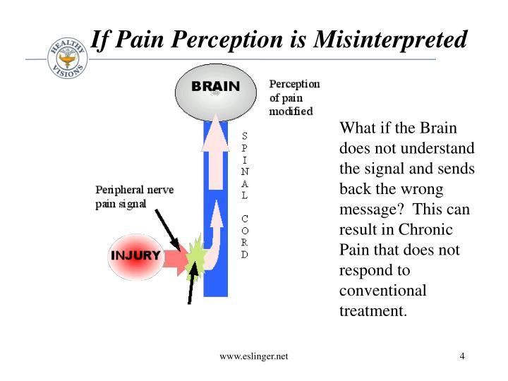 If Pain Perception is Misinterpreted
