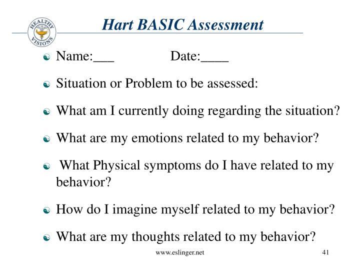 Hart BASIC Assessment