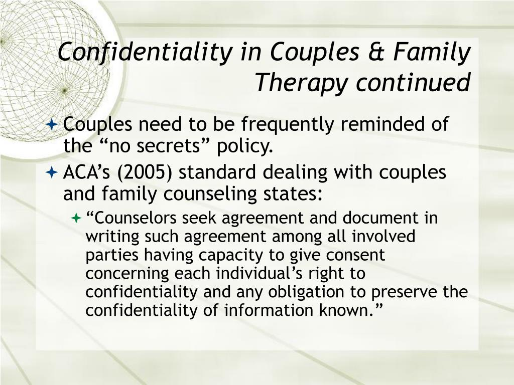Ppt Ethical Issues In Couples And Family Therapy