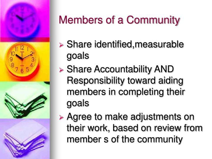 Members of a Community