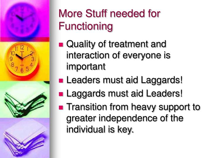More Stuff needed for Functioning