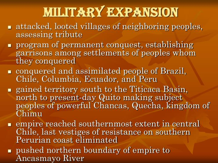 Military Expansion