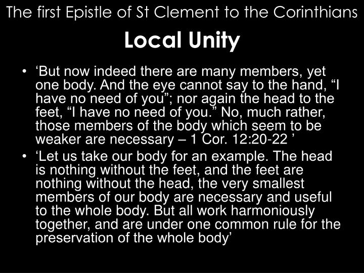 Ppt St Clement Of Rome First Letter To The Corinthians
