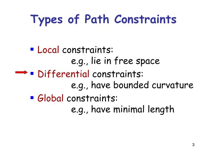 Types of path constraints1